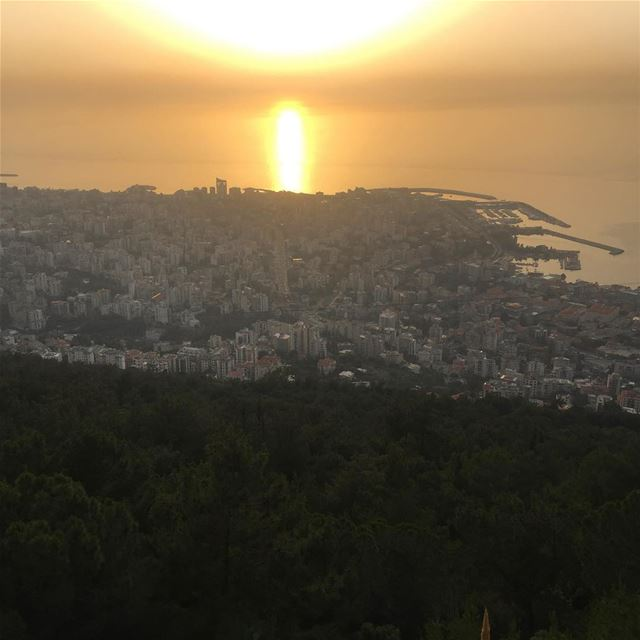 Jounieh  lebanon  sunset  mediterranean  bay  beautiful  city  mountains ...
